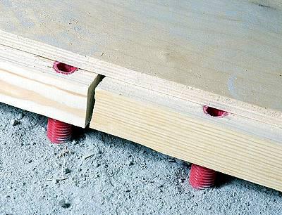Как выровнять лаги под деревянный пол