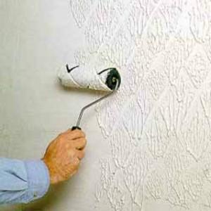 Шпаклевка валиком стен своими руками видео