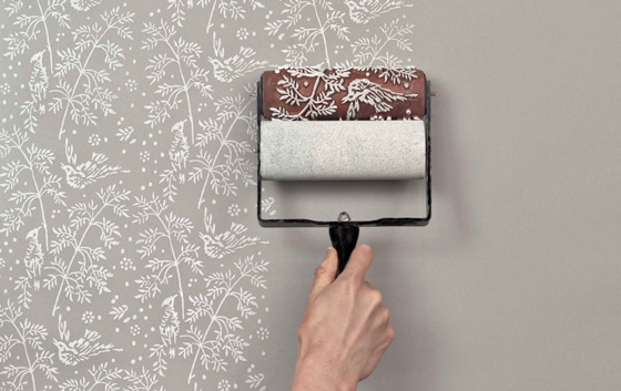 Покраска стен в ванной рисунок