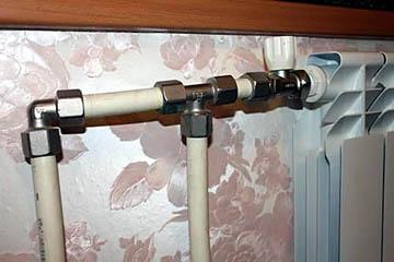 Соединение отопительных труб