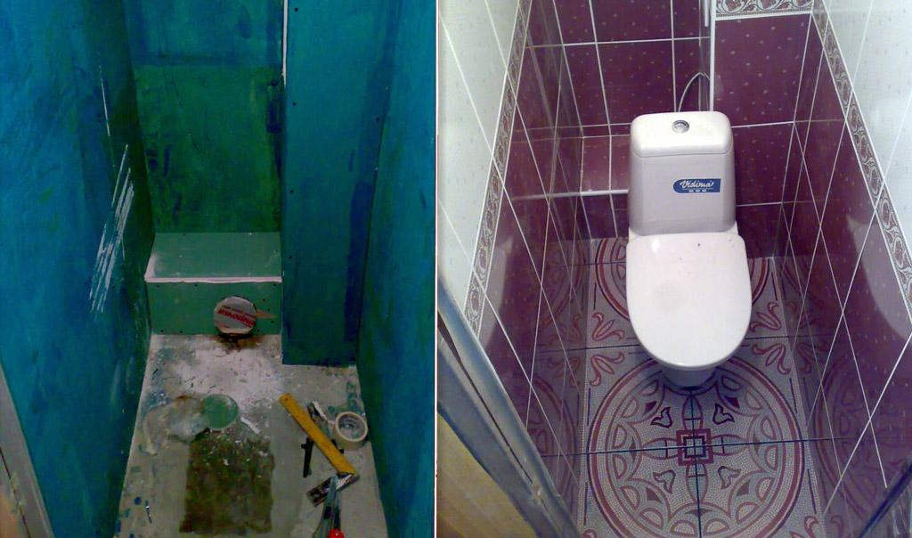 Как оформить туалет в квартире своими руками 60