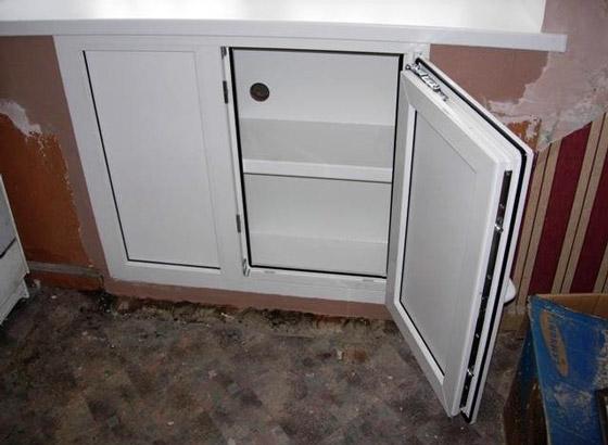 Зимний холодильник под окном отделка своими руками фото 50