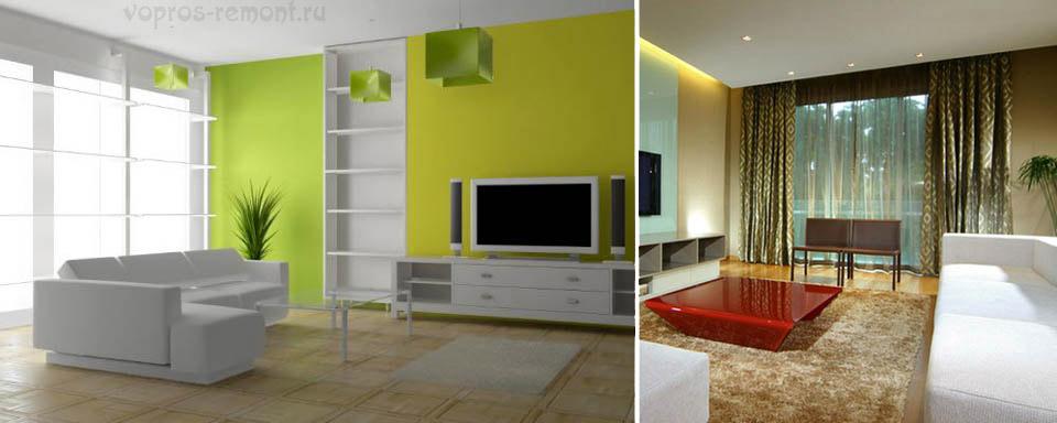 Гостиные в стиле минимализма