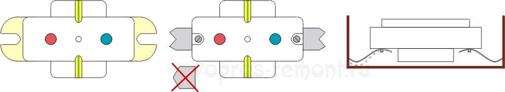 Контактные колодки розеток