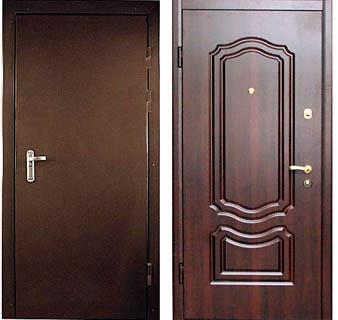 Стандартные стальные двери