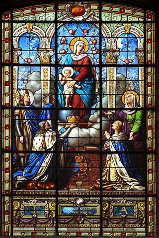 Витраж в соборе св. Винцента в Блуа