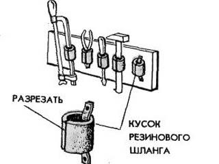 Упрощенный стеллаж для инструмента