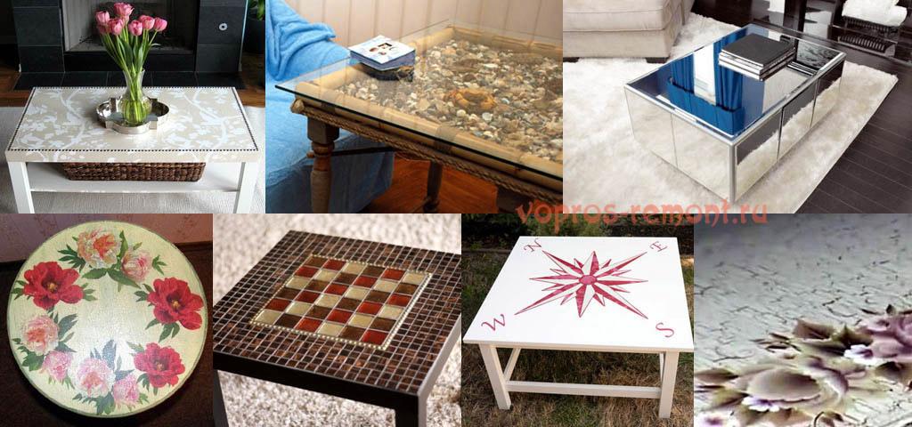Как декорировать старый стол своими руками 186