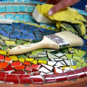 Стол из мозаики своими руками - фото и инструкция Своими 71