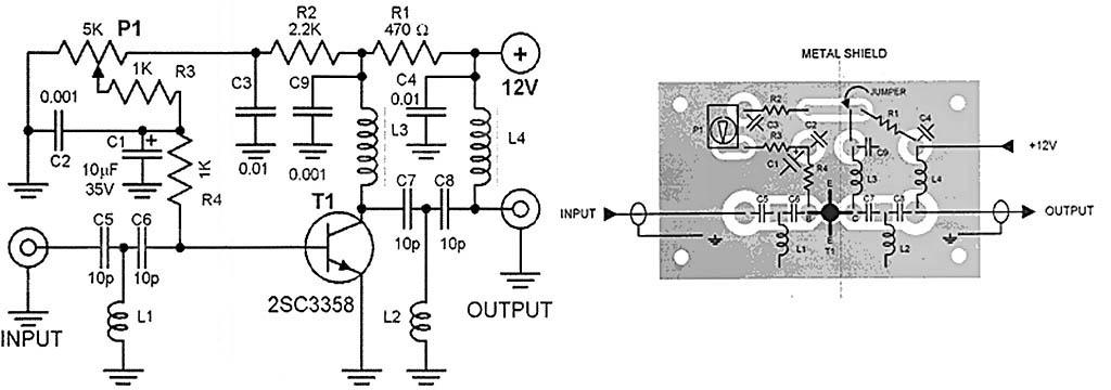 Усилитель ТВ сигнала ДМВ Схема