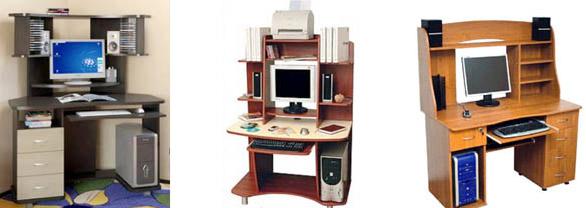 Размещение акустических систем на компьютерных столах