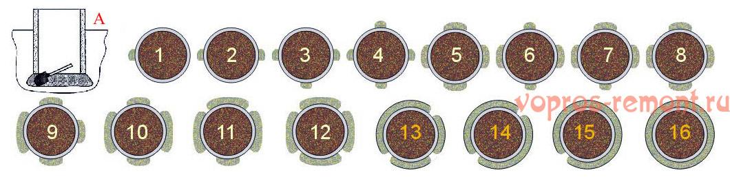 Копка колоколом шахты со скользящим стволом