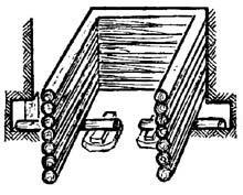 Подкрепление сруба колодца лежнями
