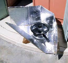 Простейшая солнечная печь