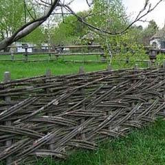 Плетение из прутьев косичкой