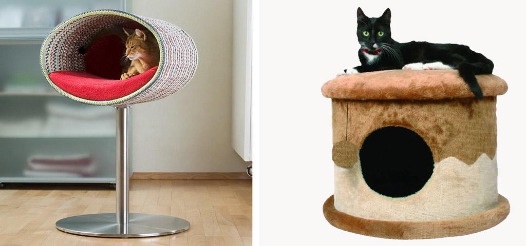 Домики своими руками для кошки и котят