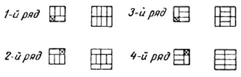 Схемы трехрядной перевязки при кладке столбов