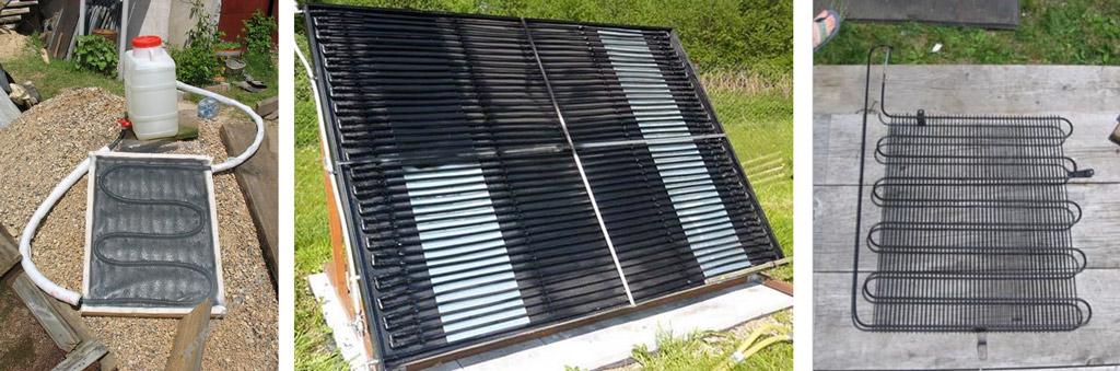 Малоэффективные теплообменники самодельных солнечных коллекторов