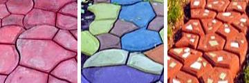 Вид цветного бетона в зависимости от способа окраски