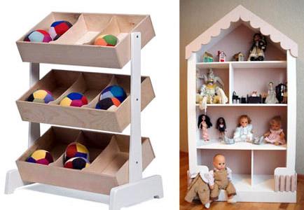 Полки для игрушек для мальчика и девочки