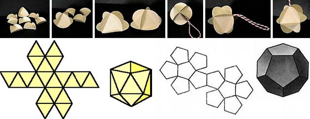 Как клеить шары для елки из многогранников