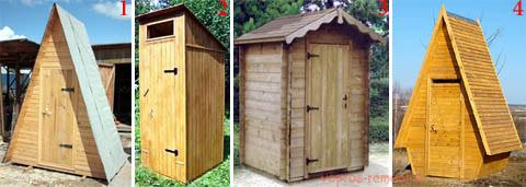 Виды деревянных кабин для туалетов