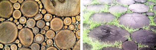 Старение деревянной дорожки