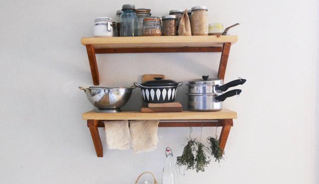 Устройство кухонной полки