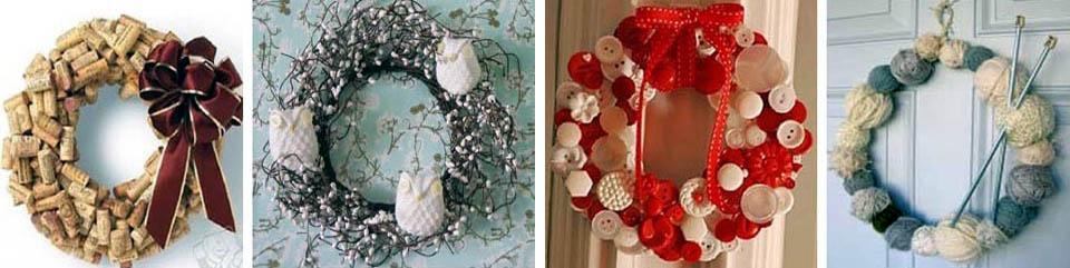 Курьезные новогодние венки
