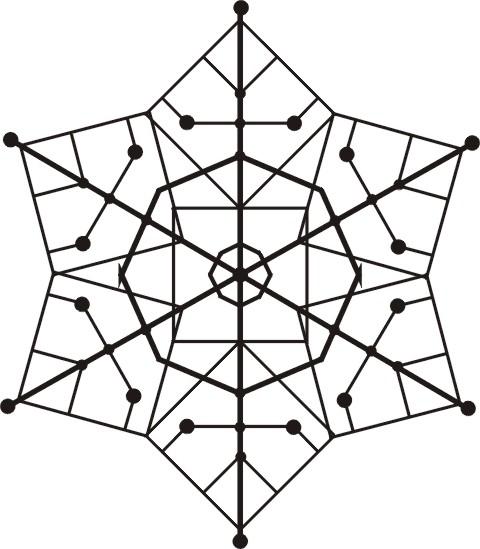 Схема кристаллизации снежинок