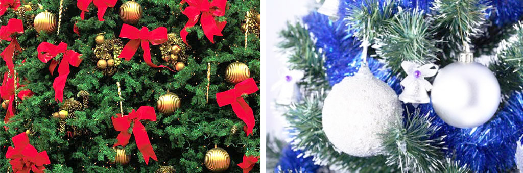 Украшение новогодней елки в стиле минимализма