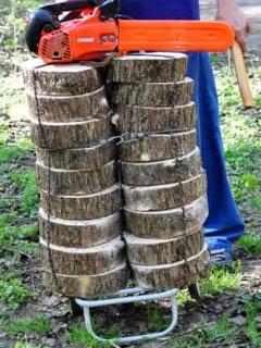 Спилы дерева для дачной дорожки