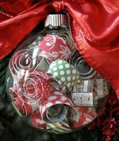 Самодельный елочный шар из прозрачной заготовки