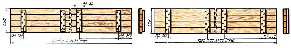 Типовые конструкции щитов опалубки