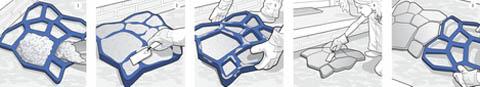 Как залить дорожку бетоном в форму