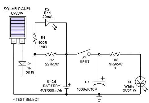 Схема зарядки мобильного телефона от солнечной батареи