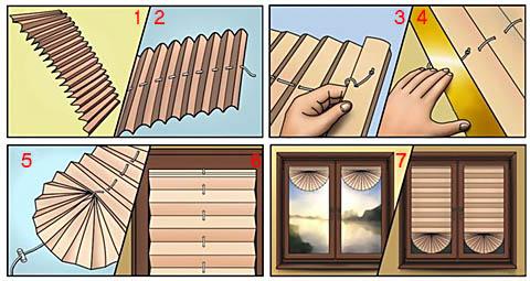 рулонные шторы из бумаги своими руками пошаговая инструкция - фото 5