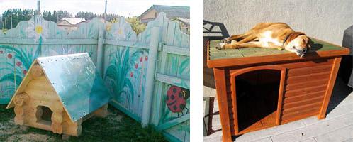Примеры расположения будки для собаки