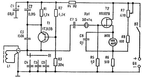 Металлоискатель с простым кварцевым фильтром