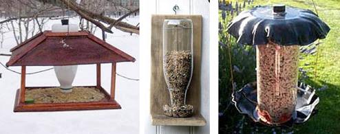 Самодельные бункерные кормушки для птиц