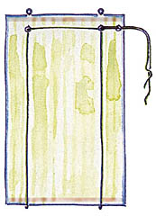 Схема раскроя ткани для рулонных жалюзи