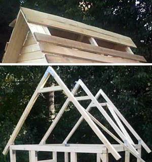 Стропильная конструкция детского домика