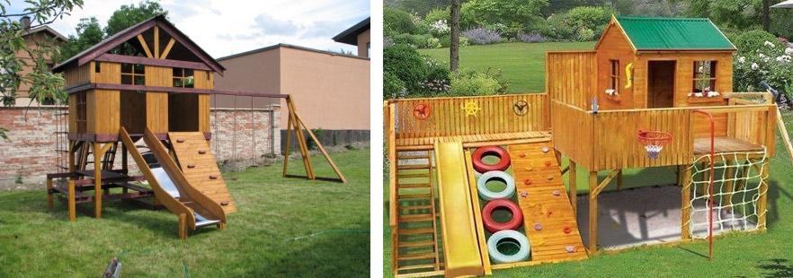 Детские 2-этажные игровые комплексы