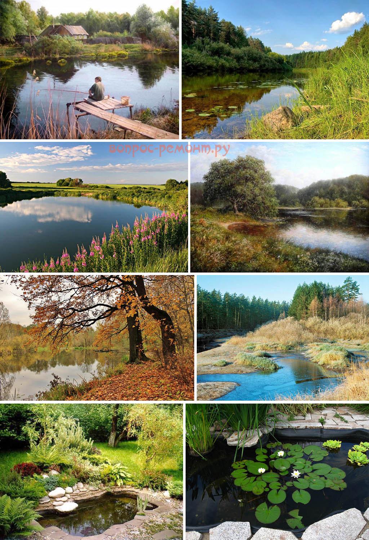 Пейзажи с прудами