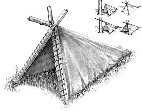 Палатка-угол и способы ее установки