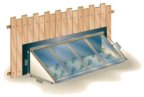 Парник с крышей из цельного листа поликарбоната