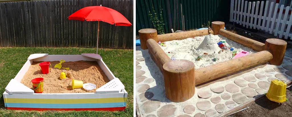 Песочницы с угловыми сиденьями