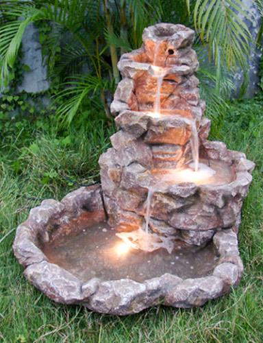 Фонтан водопад из камня своими руками 565