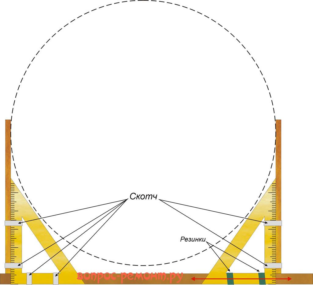 Самодельный инструмент для измерения больших диаметров