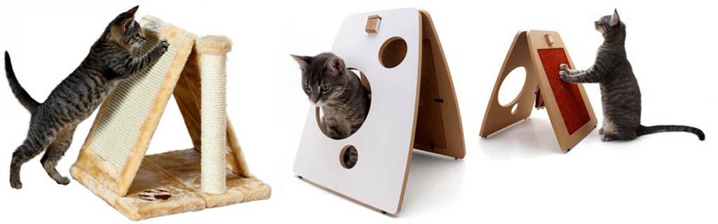 Домики с когтеточкой для кошек